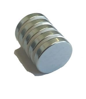 N35 Neo Disc - D25mm x 5mm - 8.6kgs pull force - Zinc Plated