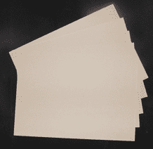 5 x A4 Greyboard Sheets 3mm / 3000 micron