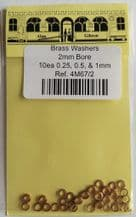 Alan Gibson Brass Shim Washers with 2mm Bore Part no. 4M67/2