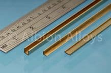 Albion Alloys A2 2mm x 2mm Brass L Angle