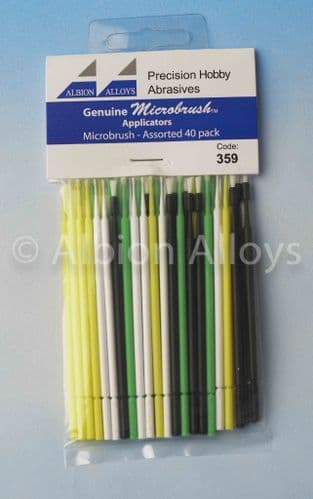 Albion Alloys Microbrush Applicators Assorted Pack of 40