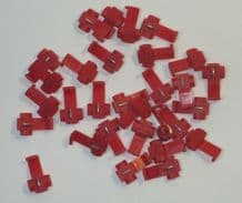 DCC Layout Track Bus / Droppers - Red Quick Connectors Pack of 30