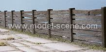 Model Scene 48801 Concrete Fence Type II (Irregular) Kit HO scale 1:72/87