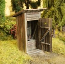 Model Scene 94501 Outhouse Kit Scale O 1:45 / 1:48