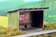 Model Scene 96502 Wooden Passenger Shelter Kit Scale N 1/160