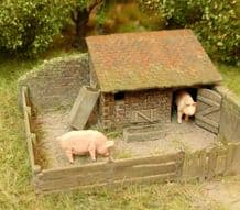 Model Scene 96519 Small Pig House Kit Scale N 1/160