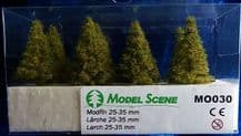 Model Scene MO030 Larch Trees 25-35mm Pack of 8