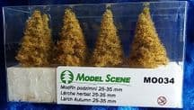 Model Scene MO034 Larch Trees Autumn 25-35mm Pack of 8