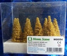 Model Scene MO054 Larch Trees Autumn 40-60mm Pack of 9