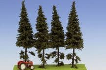 Model Scene SK152 Spruce with Short Trunk Trees 140-180mm Pack of 4