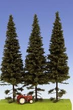 Model Scene SK202 Spruce with Short Trunk Trees 180-220mm Pack of 3