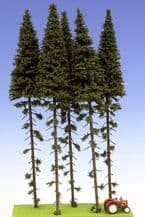 Model Scene SK300 Spruce with Trunk Trees 280-320mm Pack of 5