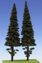 Model Scene SM4-250 O Scale Spruce with Short Trunk Trees 250mm Pack of 2