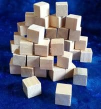 Wooden Blocks Pack of 40 Small